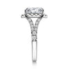 Halo Ring White Emerald Cut Created Diamond Ring