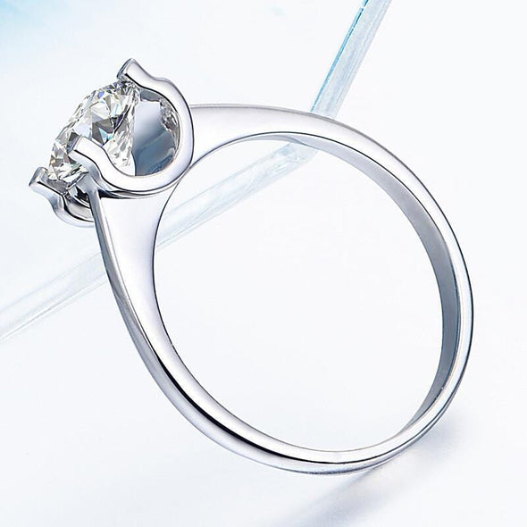 Solitaire Ring Brilliant Created Diamond Round Cut Solitaire Ring