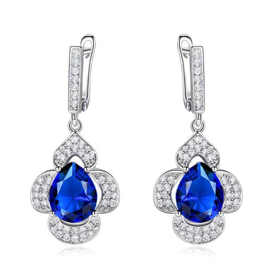 Drop Earrings Vintage Sapphire Drop Earrings