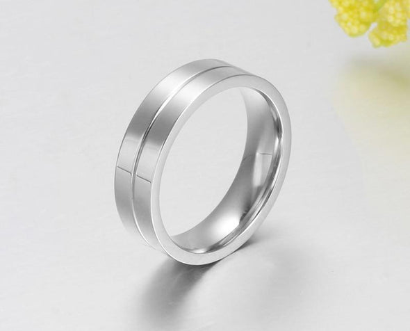 Ring 5 / Men Fashion Titanium Rings Men and Women Jewelry Couple Promise Wedding Finger Love Rings Jewelry FHR206