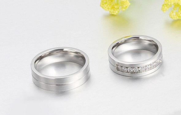 Ring Fashion Titanium Rings Men and Women Jewelry Couple Promise Wedding Finger Love Rings Jewelry FHR206