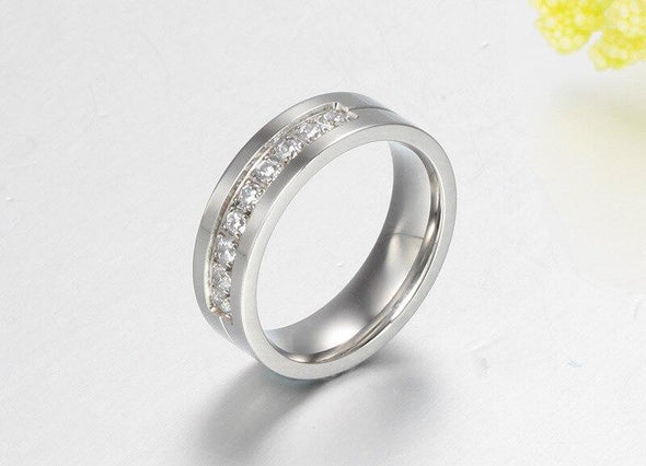 Ring 5 / Women Fashion Titanium Rings Men and Women Jewelry Couple Promise Wedding Finger Love Rings Jewelry FHR206