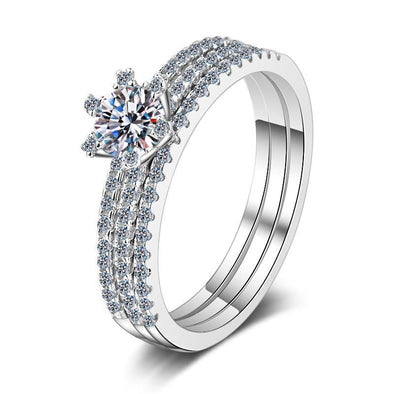 Bridal Ring 4.5 Round Cut Created Diamond Classis Bridal Ring