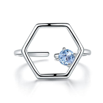 Ring Topaz Adjustable Ring