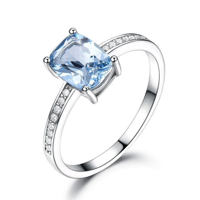 Ring 5 Topaz Solitaire Ring