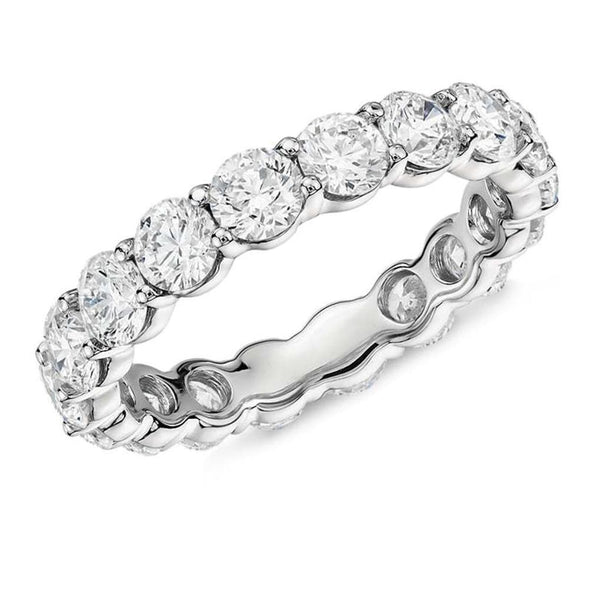 Eternity Band US4 4mm Round Full Eternity Created Diamond Ring