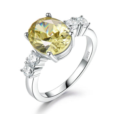 Ring 5 Yellow Zircon Engagement Ring