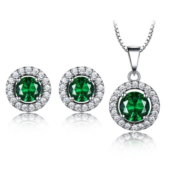 Jewelry Set Green Emerald Set