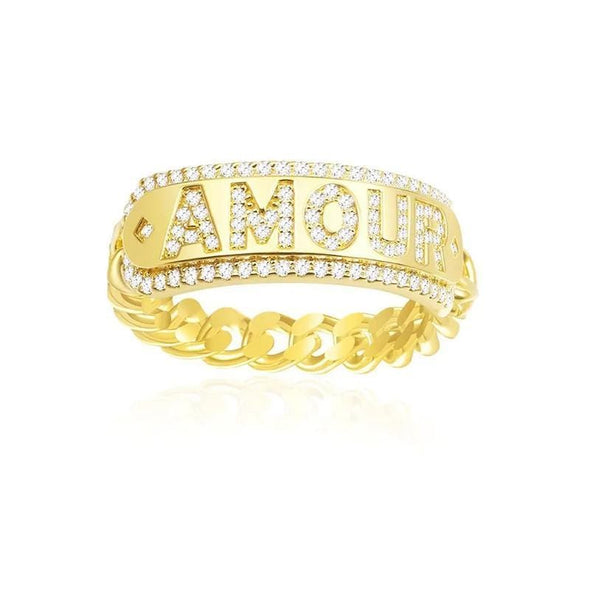 Fashion Ring US5 Sterling Silver Created Diamond Fashion Amour Ring