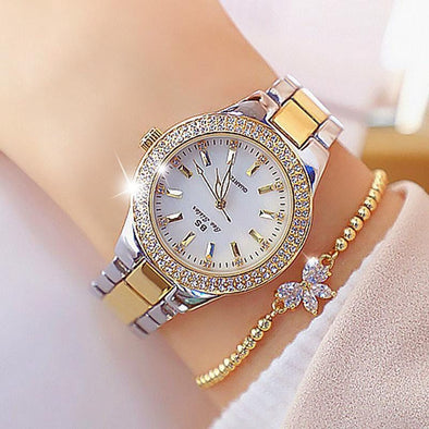 Watch gold silver Bee Sister - Diamond Women's Quartz Watch (with a ins Bracelet as gift) FHW002