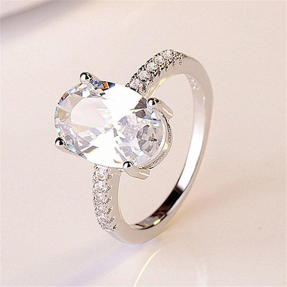 Ring 925 sterling Silver Engagement wedding Rings FHR079