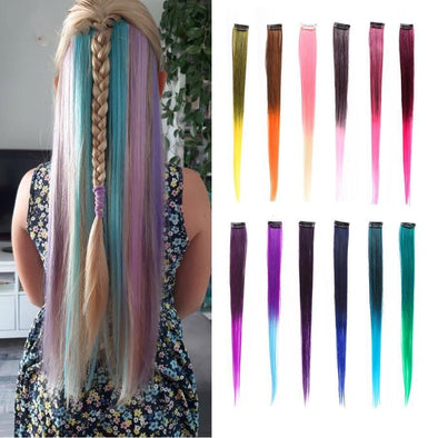 hair exten Colored Clip In Hair Extensions