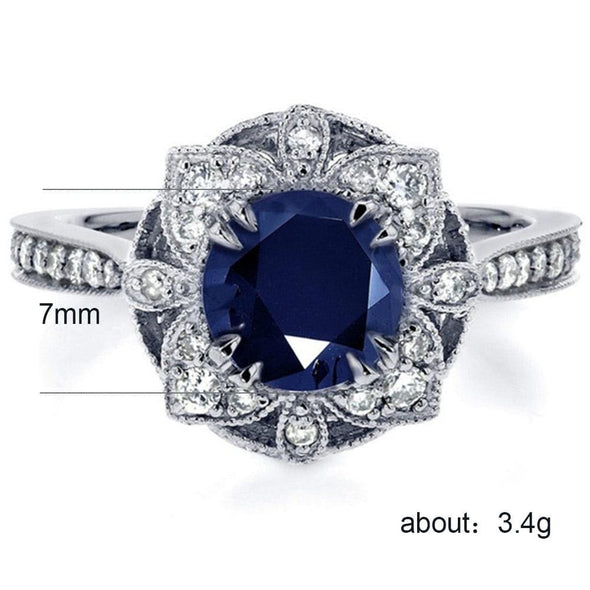 Ring Luxury Flower Shaped Vintage  Rings - FHR090