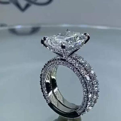 Ring 2020 Stunning Vintage Women Fashion Jewelry Wedding Ring Set FHR004