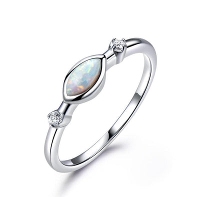 Ring 5 White Fire Opal Ring