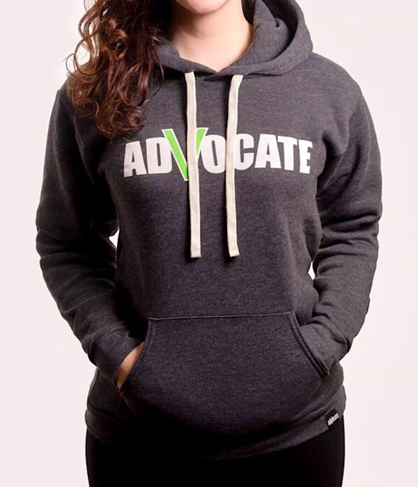 Unisex Pullover Hoodie Heather Coal (Organic Recycled)