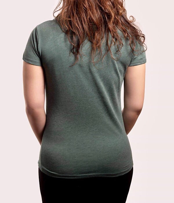 Women's  Short Sleeve Tee Heather Pine (Organic Recycled)