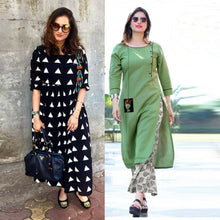 Load image into Gallery viewer, Set of 2 Party Wear Kurtis