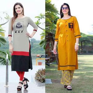 Divine Pack Of 2 Beautiful Kurties