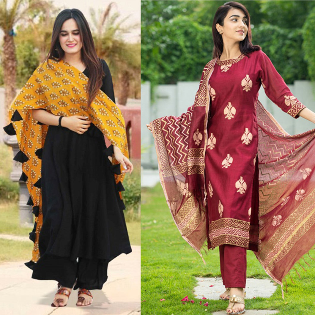 Pack Of 2 Fashionable Kurti
