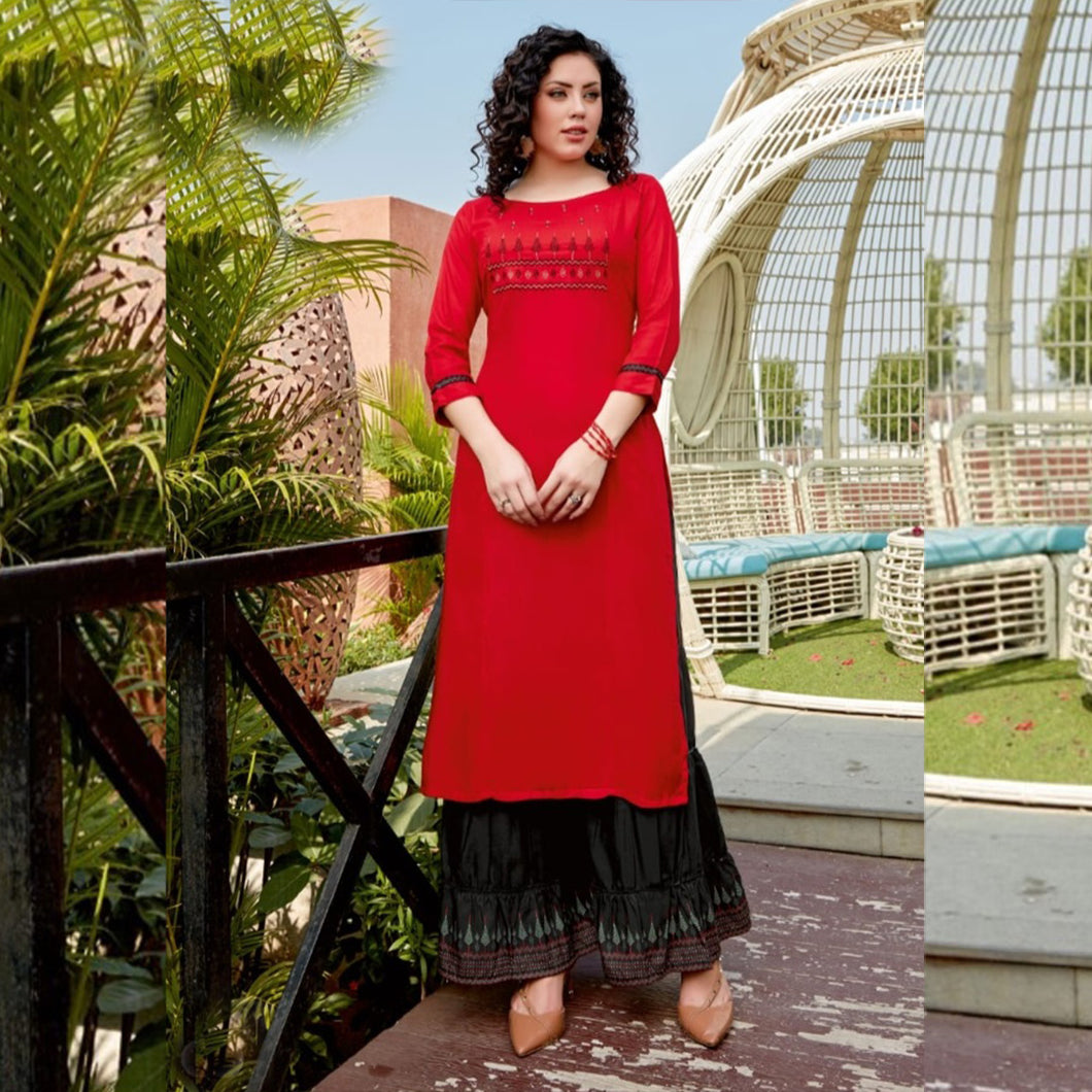 Awesome Looking Red Color Stunning Kurti