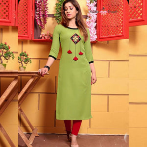 Pista Color Attractive Suit With Work