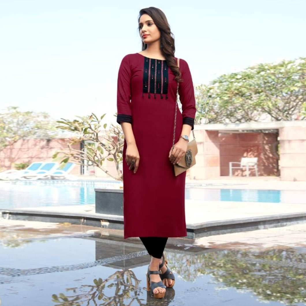 Marron Color Beautiful Casual Wear Suit