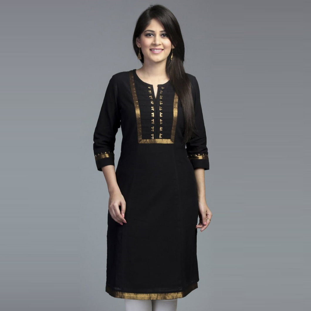 Stunning Black Color Casual Wear Suit
