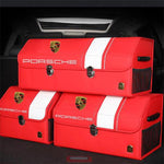 Load image into Gallery viewer, Buy 2  Free Shipping---[Hot sale!!!]Universal Car LOGO Leather Trunk Organizer Box—Black