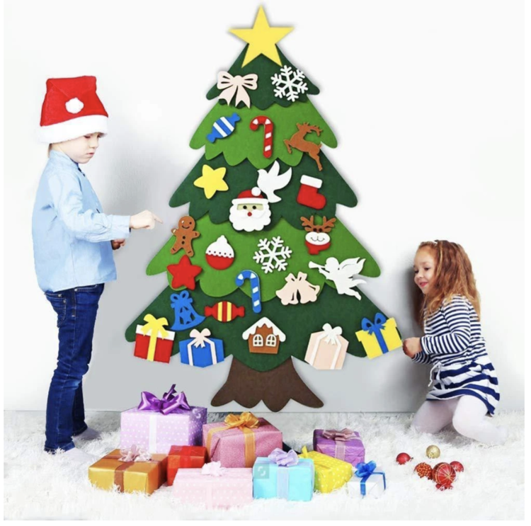 🎄Best Gift For Children-DIY Felt Christmas Tree🎄