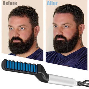 (50% OFF TODAY-New Year Sales) 2 IN 1 Hair & Beard Straightener Comb