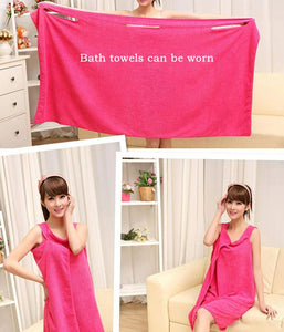 Womens Wearable Bath Towel