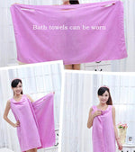 Load image into Gallery viewer, Womens Wearable Bath Towel