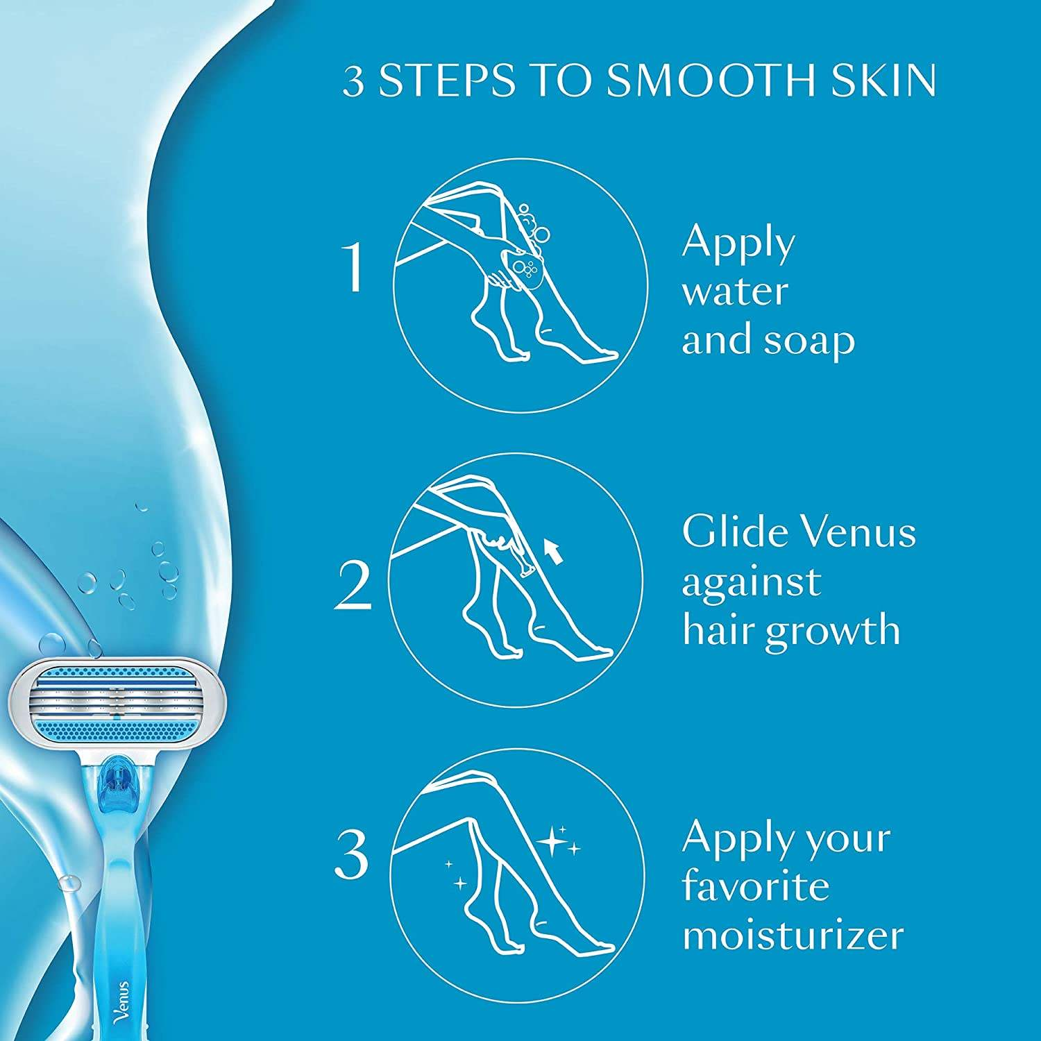 Gillette Venus Hair Removal Razor For Women, 1 pc - ClickUrKart