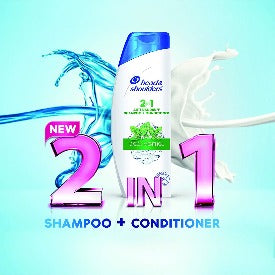 Head & Shoulders 2-in-1 Shampoo + Conditioner Cool Menthol, 340ml