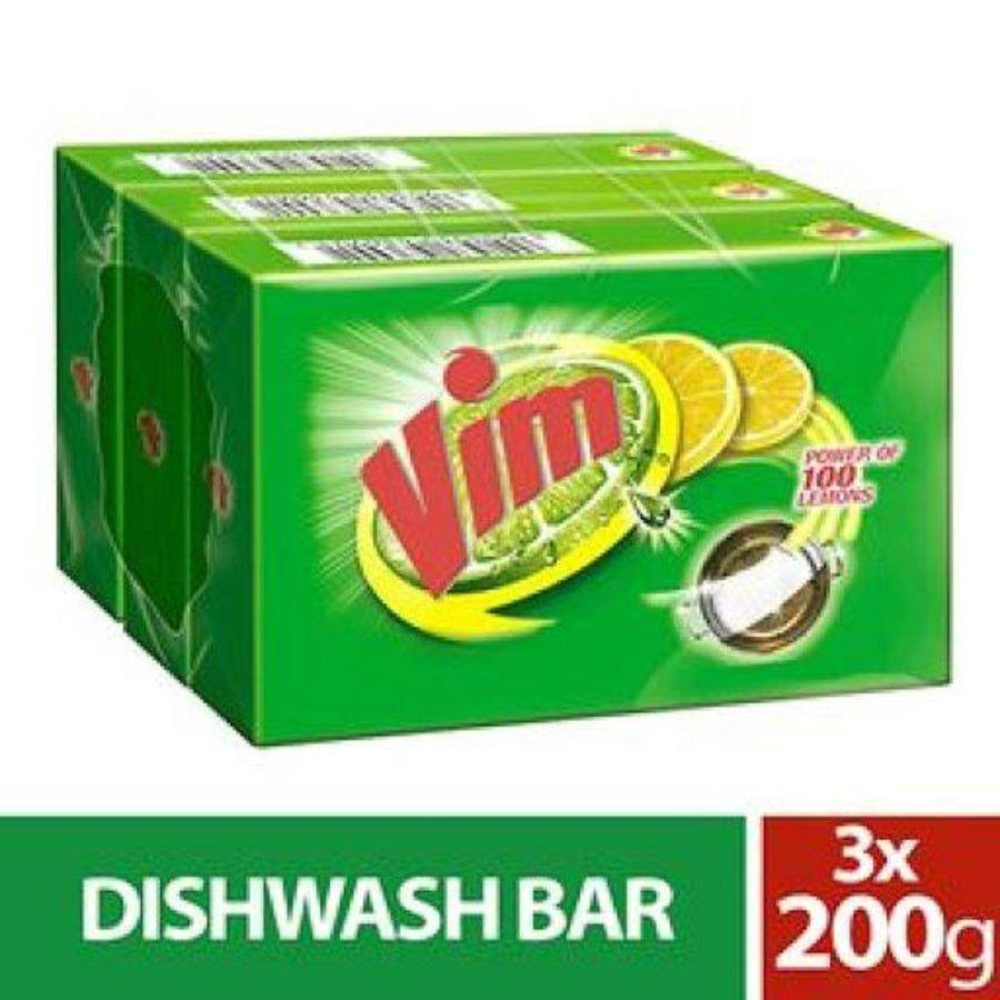 Vim Dishwash Bar, 200g ( Pack of 3 ) - ClickUrKart