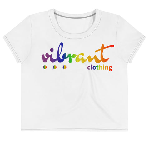 """VIBRANT"" Women's LGBTQ Edition Crop Top (+ Sizes only)"