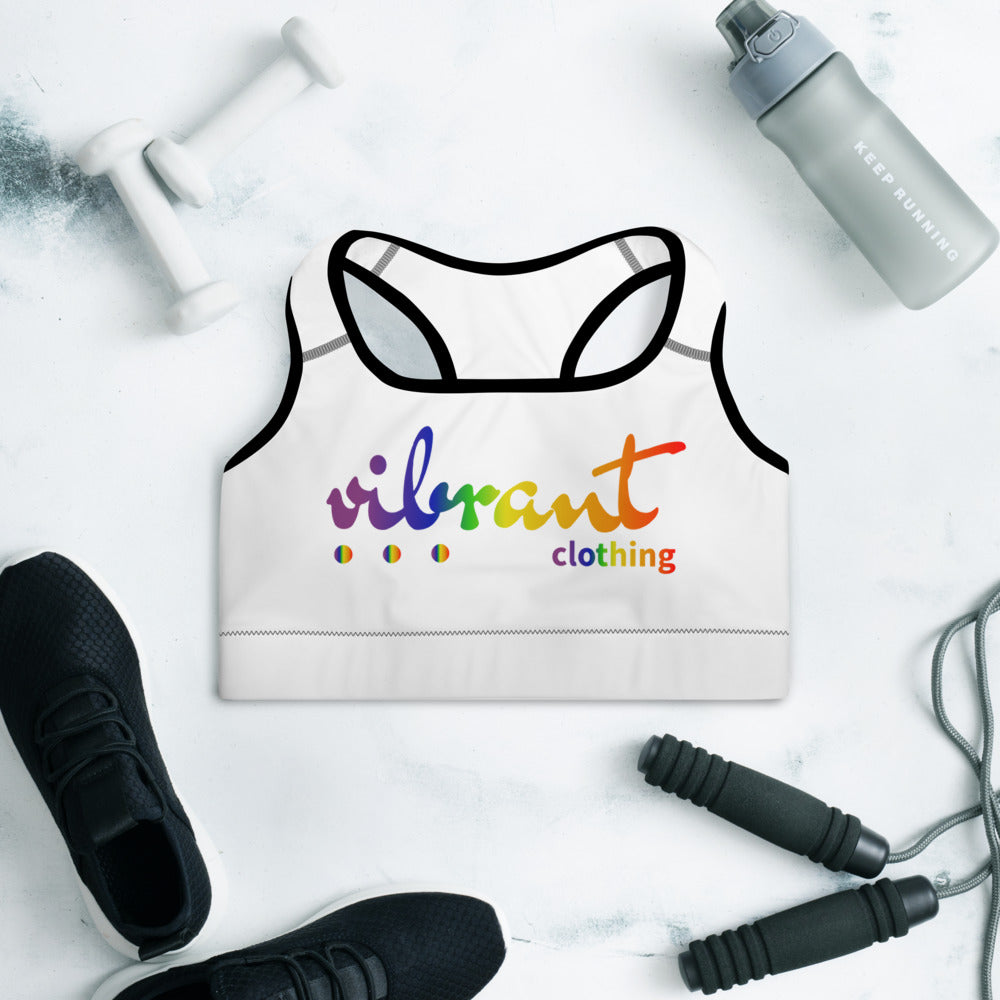 """VIBRANT"" LGBTQ Edition Sports Bra"