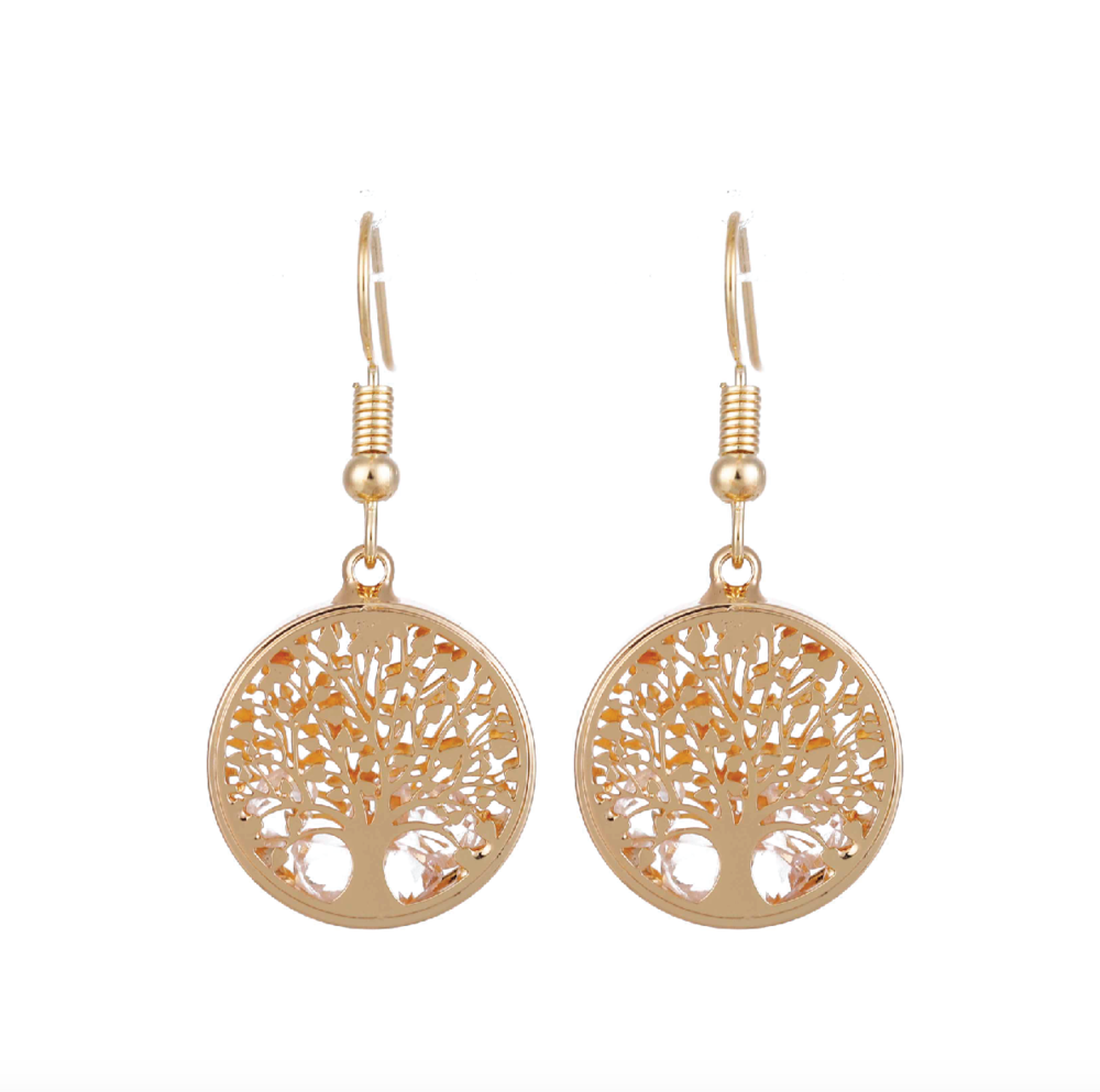 Earring-Gold Tree