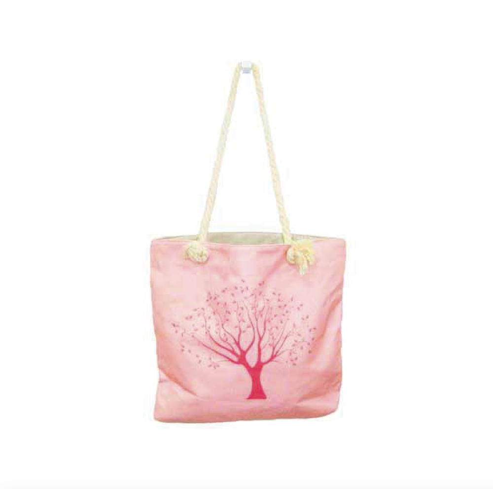 Beach Bag-Pink Tree