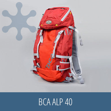 BCA Alp 40, snow gear, safety kit