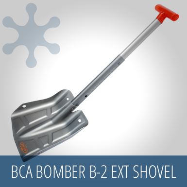BCA Bomber B-2 EXT Shovel, snow gear, safety kit