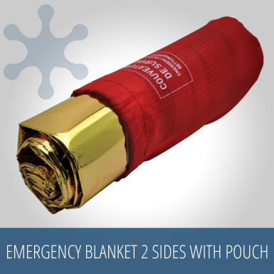 Baladeo Emergency Blanket Two Sides with Nylon Pouch