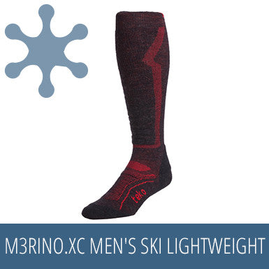 TEKO M3RINO.XC Men's Ski Lightweight - Charcoal / Red