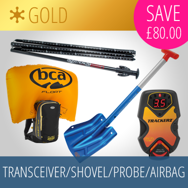 Transceiver/Shovel/Probe/Airbag Gold Package - save £80!