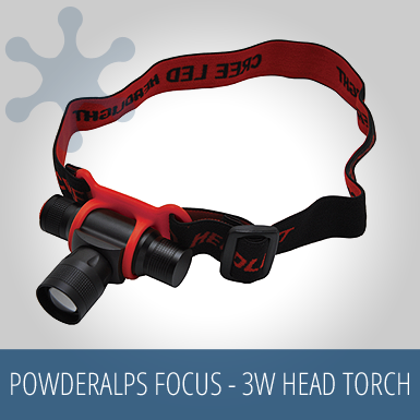 PowderAlps FOCUS - 3W Cree Head Torch