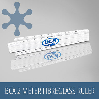 BCA 2 Meter Collapsible Fibreglass Ruler