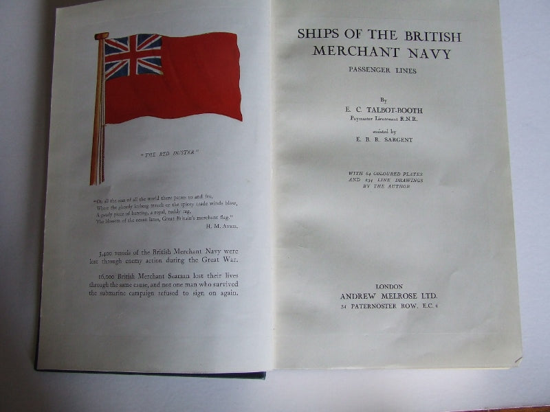 Ships of the British Merchant Navy, passenger lines