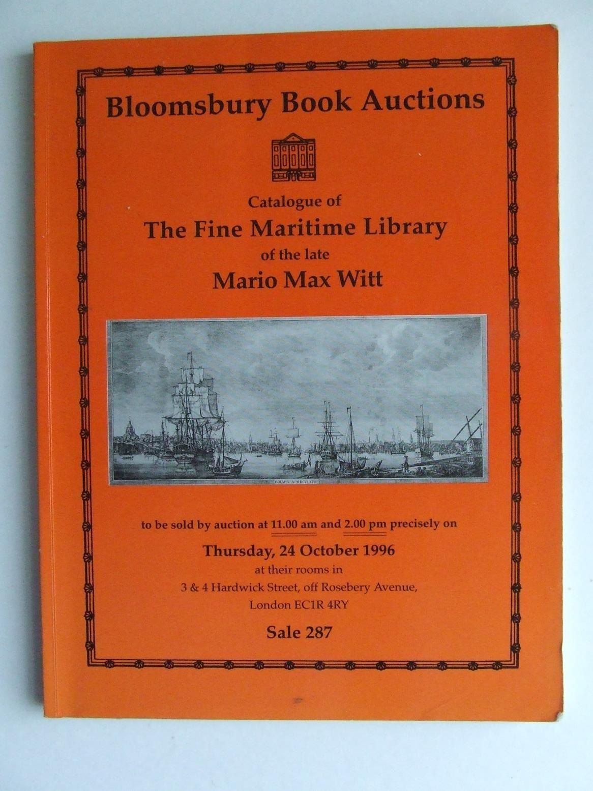 Catalogue of the Fine Maritime Library of the late Mario Max Witt
