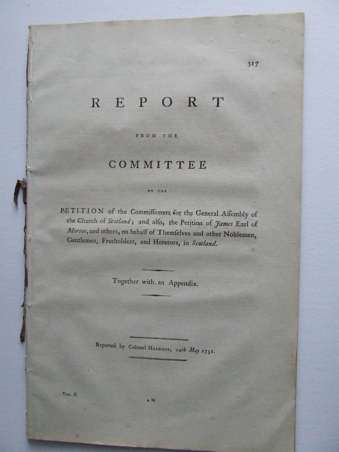 Report from the Committee to whom the petition of the Commissioners for the General Assembly of the Church of Scotland
